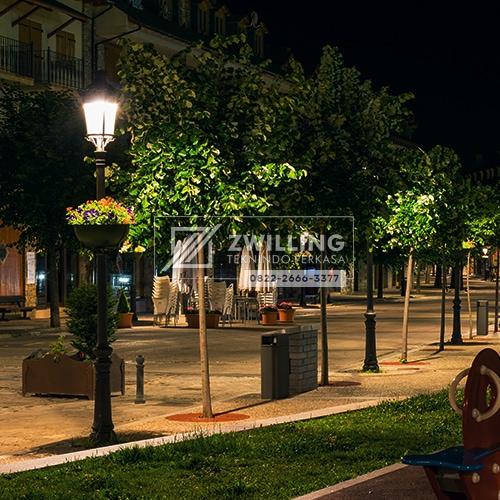 Jual Tiang Lampu Taman Kota Antik Klasik Dekoratif Zwilling Lampu