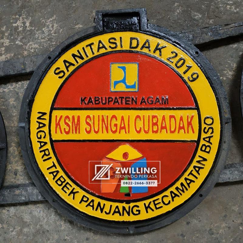 Manhole Cover Kabupaten Agam Proyek Sanitasi Zwilling Lampu
